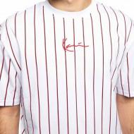 Karl Kani T-shirt Small Signature Pinstripe Tee white