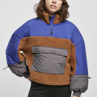Ladies Sherpa 3-Tone Pull Over Jacket
