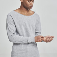 Long Open Edge Terry Crewneck
