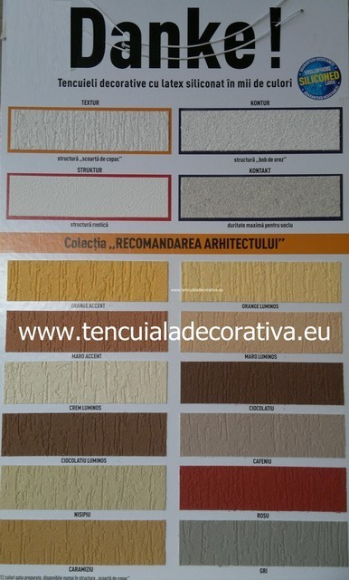 Paleta De Culori Tencuiala Decorativa.Paletar Danke Textur