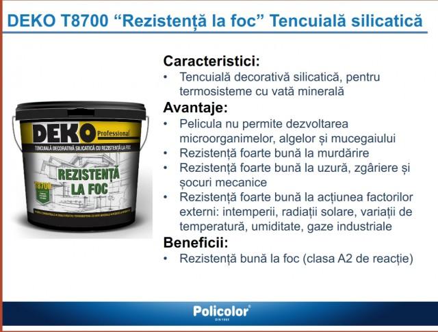 Tencuiala Decorativa Deko Pret.Deko T8700 Silicatica Rezistenta La Foc 25kg