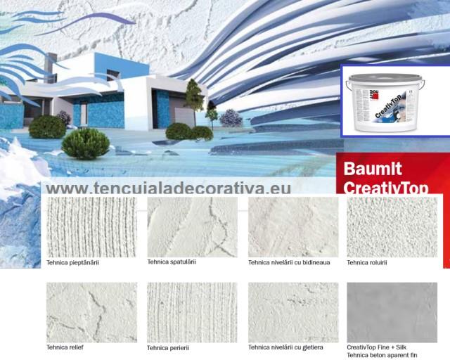 Tencuiala Decorativa Baumit Pret.Baumit Creativtop Fine 1mm
