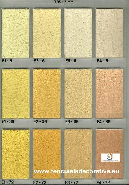 Paleta De Culori Tencuiala Decorativa.Paletar Culori Duraziv