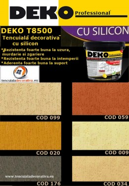 Tencuiala Decorativa Policolor Pret.Tencuiala Decorativa Deko T8500