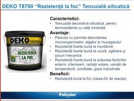 Deko T8700 Tencuiala silicatica rezistenta la foc 25kg