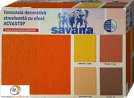 Tencuiala decorativa cu silicon Savana Acvastop 24Kg