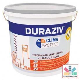 Tencuiala decorativa DURAZIV Clima Protect cu Kauciuc - Cuart colorat 25 Kg