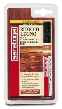 Marker retus lemn culoare NUC INCHIS - pachet 12 markere