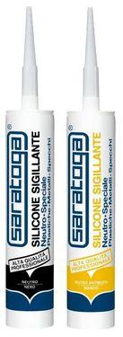 Silicon sigilant neutru PLASTIC * METAL * OGLINZI de culoare NEGRU RAL9017 - 390gr