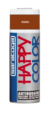 "Vopsea spray ""HAPPY COLOR"" acrilic GRUND ANTIRUGINA ROSU 400ml"