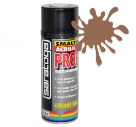 Spray email lucios SMALTO acrilic profesional TRANSPARENT MARONIU RAL8025 - 400ml