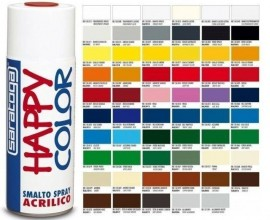 """Vopsea spray """"HAPPY COLOR"""" acrilic NEGRU LUCIOS 400ml"""