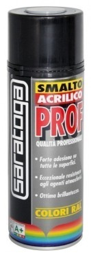 Spray email lucios SMALTO acrilic profesional GRI ARGINTIU RAL7001 - 400ml