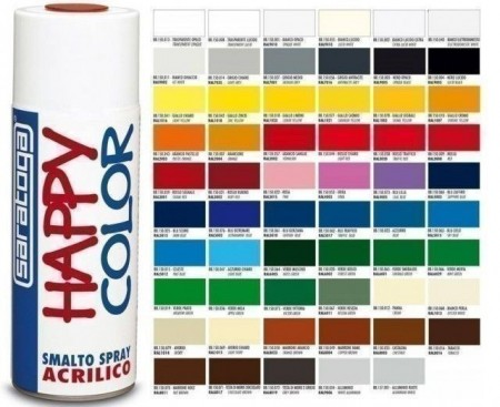 "Vopsea spray ""HAPPY COLOR"" acrilic ALB FRIGO 400ml"