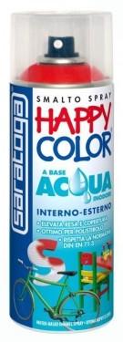 """VOPSEA SPRAY """"HAPPY COLOR AQUA"""" PE BAZA DE APA NEGRU LUCIOS RAL 9005 - 400ml"""