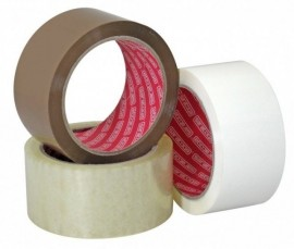 Banda adeziva TRANSPARENTA din polipropilena nezgomotoasa pentru ambalare - 132m x 50mm