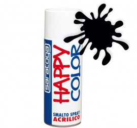 "Vopsea spray ""HAPPY COLOR"" acrilic NEGRU LUCIOS 400ml"