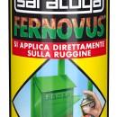 Spray vopsea gel  FERNOVUS cu efect de lovitura de ciocan - 400 ml - culoare gri armatura