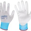Mănuși de protectie din nylon si poliuretan - albe - marimea 10