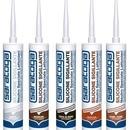 Silicon sigilant neutru pentru FERONERIE de culoare GRI RAL 7042 - 390gr