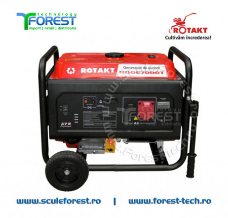 Generator curent trifazic 6.8kW Rotakt ROGE7000T, benzina