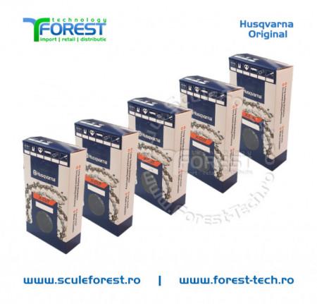 "Pachet 5 lanturi drujba Husqvarna X-CUT 16""(40cm), 28 dinti, pas 3/8, canal 1.3mm S93G"