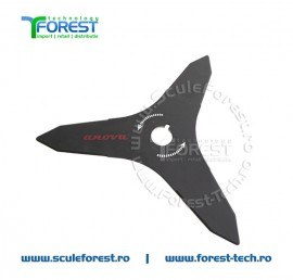 Disc (cutit) motocoasa Anova pt.iarba, 300mm, 3 cutite | SculeForest