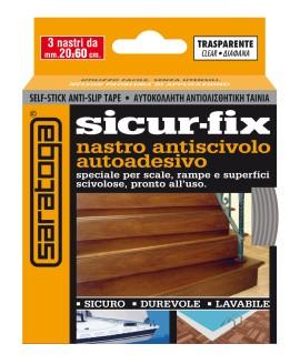 Banda auto-adeziva antiderapanta SICUR-FIX transparenta - 3 buc. x 19mm x 60cm