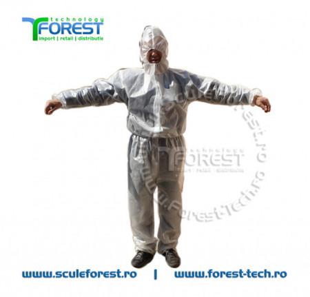 Combinezon protectie impermeabil de unica folosinta - pachet 50 buc.