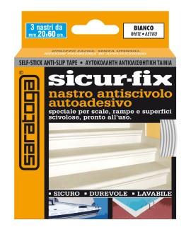 Banda auto-adeziva antiderapanta SICUR-FIX alba - 3 buc. x 19mm x 60cm