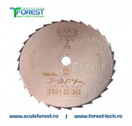 "Disc taiere arbusti GOLD 255 mm, 30 dinti, 1"" (25.4mm)"