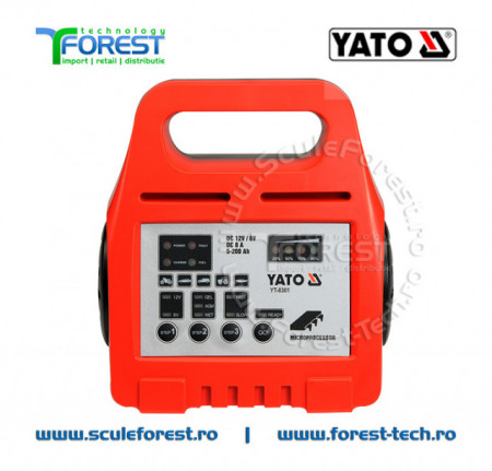 Redresor auto YATO, 6/12V, 8A, 5 - 200Ah