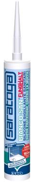 Silicon sigilant acetic BIANCO SAN de culoare ALBA - 310ml