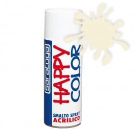"""Vopsea spray """"HAPPY COLOR"""" acrilic ALB PERLA RAL 1013 400ml"""