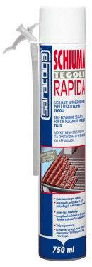Spuma poliuretanica rapida pentru TIGLE aplicare cu mana - 750ml.