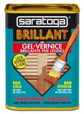 Lac lucios pentru lemn BRILLANT culoare NUC INCHIS - 750 ml