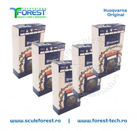 "Pachet 5 lanturi drujba Husqvarna X-CUT 18""(45 cm), 34 dinti, pas 3/8, canal 1.5mm C85"