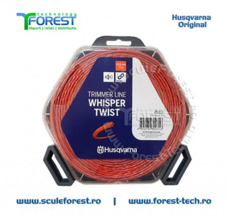 Rola fir trimmy 2.4mm x 77m Whisper Twist Gri