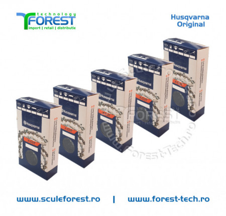 "Pachet 5 lanturi drujba Husqvarna X-CUT 14""(35cm), 26 dinti, pas 3/8, canal 1.3mm S93G"