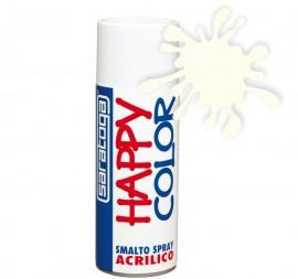 """Vopsea spray """"HAPPY COLOR"""" acrilic ALB LUCIOS RAL 9010 400ml"""