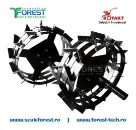 Set roti metalice 30cm pentru motocultor Rotakt