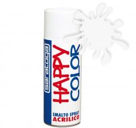 """Vopsea spray """"HAPPY COLOR"""" acrilic ALB MAT 400ml"""