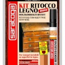 "Kit reparare lemn ""GRAN CLASSE"" culoare NUC INCHIS - blister chit + marker"