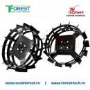 Set roti metalice 40cm pentru motocultor Rotakt