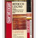 Marker retus lemn culoare NUC INCHIS - marker in blister