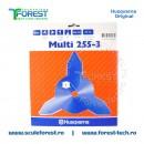 Disc (cutit) motocoasa Husqvarna pt.iarba, 255mm, 3 cutite   SculeForest