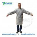Halat de protectie alb de unica folosinta - 100 bucati