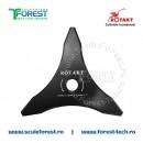 Disc (cutit) motocoasa Rotakt pt.iarba, 255mm, 3 cutite | SculeForest