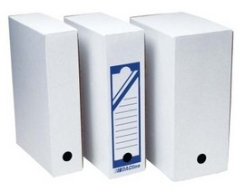 Cutie arhivare carton ondulat alb 20 cm