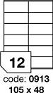 Etichete autoadezive 12/A4, 100 coli/top, 105 x 48 mm RAYFILM